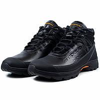 Зимние мужские кожаные ботинки черного цвета Emperio E-219-04 3be6863005f25