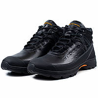 Зимние мужские кожаные ботинки черного цвета Emperio E-219-04 e438978b0463a