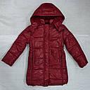 Куртка зимняя для девочки Dominika бордовая (QuadriFoglio, Польша), фото 2