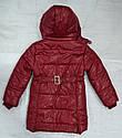 Куртка зимняя для девочки Dominika бордовая (QuadriFoglio, Польша), фото 4