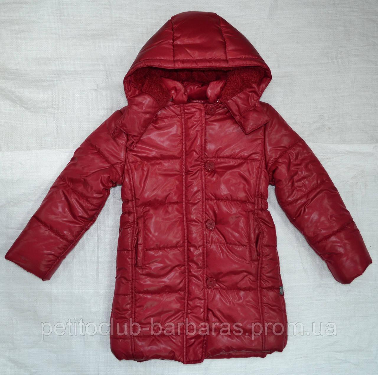 Куртка зимняя для девочки Dominika бордовая (QuadriFoglio, Польша)