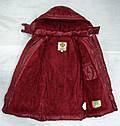 Куртка зимняя для девочки Dominika бордовая (QuadriFoglio, Польша), фото 7