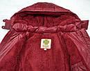 Куртка зимняя для девочки Dominika бордовая (QuadriFoglio, Польша), фото 8