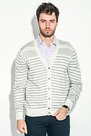 Мужская свитер, кофта  комбинация узоров 50PD13508 (Светло-серый меланж)