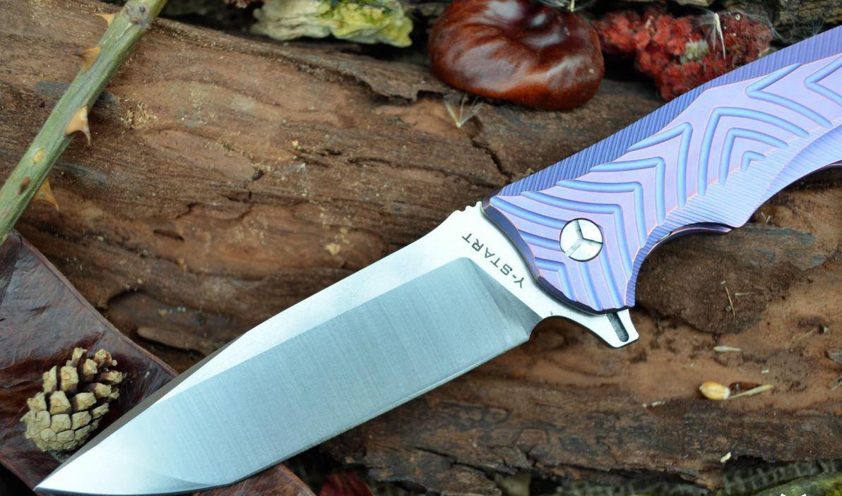 Нож Y-START LK5012 Purple
