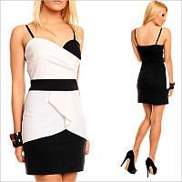 Черно-белое вечернее платье