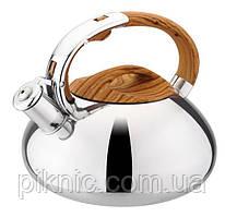 Чайник со свистком 3 литра из нержавеющей стали.