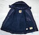 Куртка зимняя для девочки Dominika темно-синяя (QuadriFoglio, Польша), фото 5