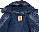Куртка зимняя для девочки Dominika темно-синяя (QuadriFoglio, Польша), фото 6