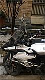 Лобовое стекло для мотоцикла (скутера) регулируемое, дополнительное ветровое стекло (спойлер)  270 мм * 122 мм, фото 7