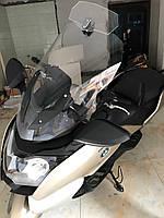 Лобовое стекло для мотоцикла (скутера) регулируемое, дополнительное ветровое стекло (спойлер)  270 мм * 122 мм
