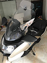 Лобове скло для мотоцикла (скутера) регульоване, додаткове вітрове скло (спойлер) 270 мм * 122 мм