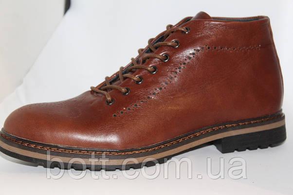 Демисезонные кожаные ботинки, фото 3