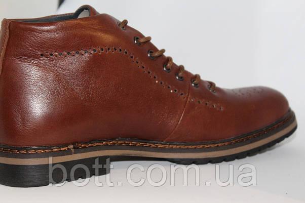 Демисезонные кожаные ботинки, фото 2