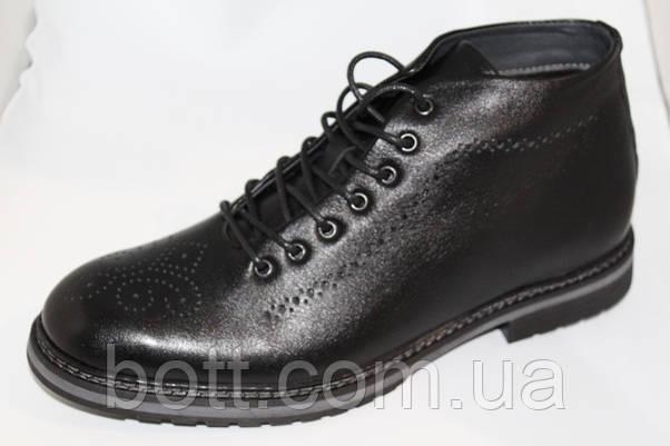 Демисезонные ботинки черные, фото 3