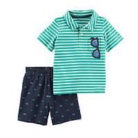 Набор футболка-поло и шорты для мальчика Carters очки в кармашке