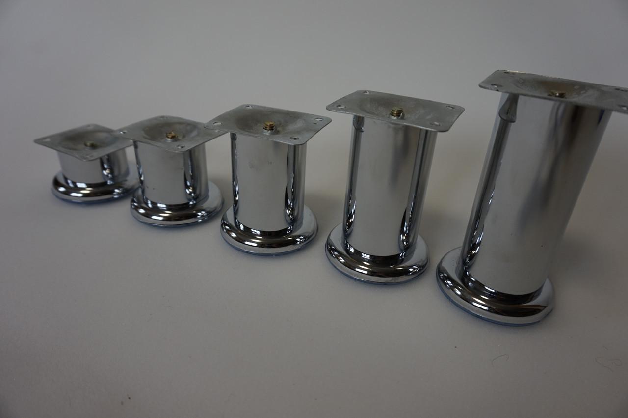 Опора мебельная цилиндрическая метал высота h-120 мм