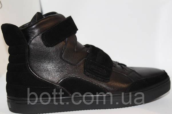 Демисезонные черные ботинки, фото 3