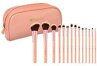 Набор кистей для макияжа BH Cosmetics BH Chic Brush Set with Cosmetic Case (14 штук)