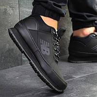 Мужские зимние кроссовки 6432 черные New Balance, фото 1