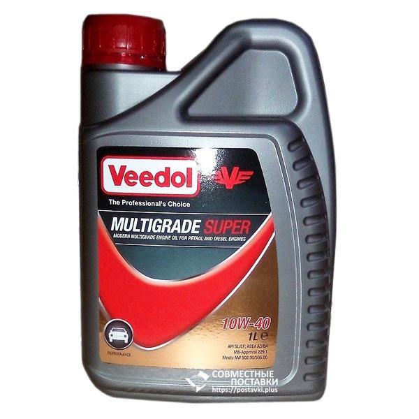 Масло моторное VEEDOL MULTIGRADE SUPER 10W40 1 литр полусинтетика