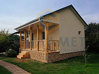 Строительство дома каркасного 5.5х6м, проект С-02