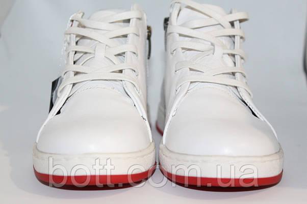 Кеды белые высокие унисекс, фото 2