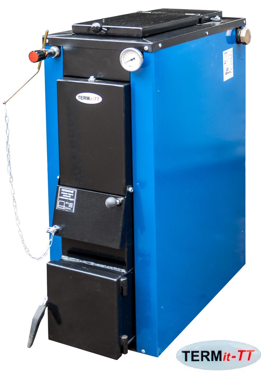 Котел твердопаливний TERMit-TT 18 кВт економ тривалого горіння без обшивки