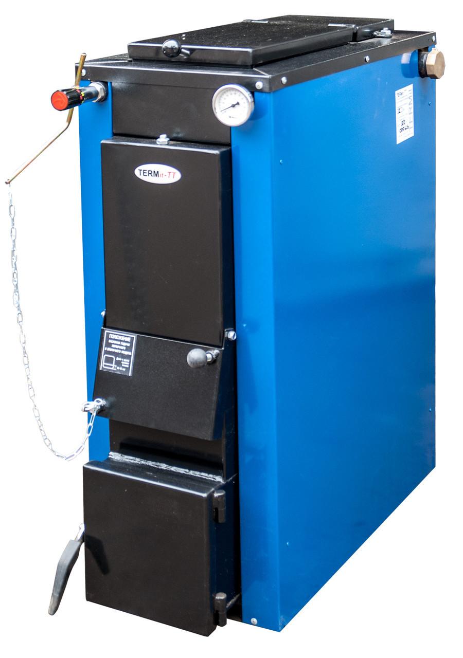 Котел твердотопливный TERMit-TT 32 кВт стандарт длительного горения в обшивке