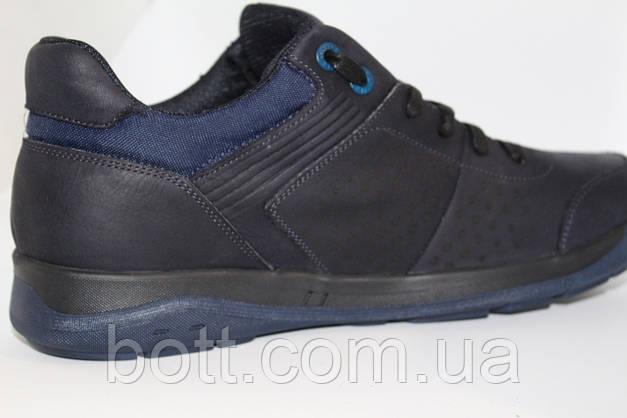 Кроссовки синие кожаные, фото 2