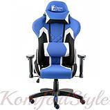 Кресло ExtremeRace 3 black/blue, фото 2