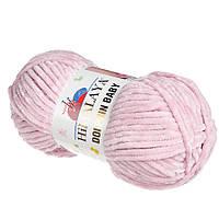 Плюшевая пряжа HIMALAYA DOLPHIN BABY 80349  цвет пыльная роза