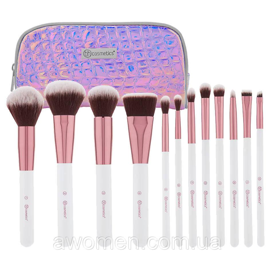 Набор кистей для макияжа BH Cosmetics Crystal Quartz (12 штук)