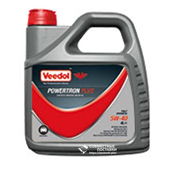 Масло моторное VEEDOL POWERTRON PLUS 5W-40 1 литр синтетическое