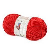 Цвет  красный  HIMALAYA DOLPHIN BABY 80318 плюшевая пряжа