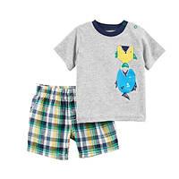 Набор футболка и шорты для мальчика Carters пираньи