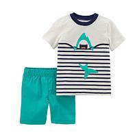 Набор футболка и шорты для мальчика Carters веселая акула