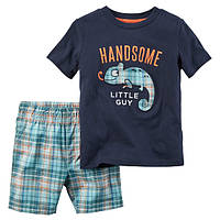 Набор футболка и шорты для мальчика Carters хамелион