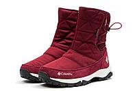 Зимние ботинки в стиле Columbia Keep warm, бордовые