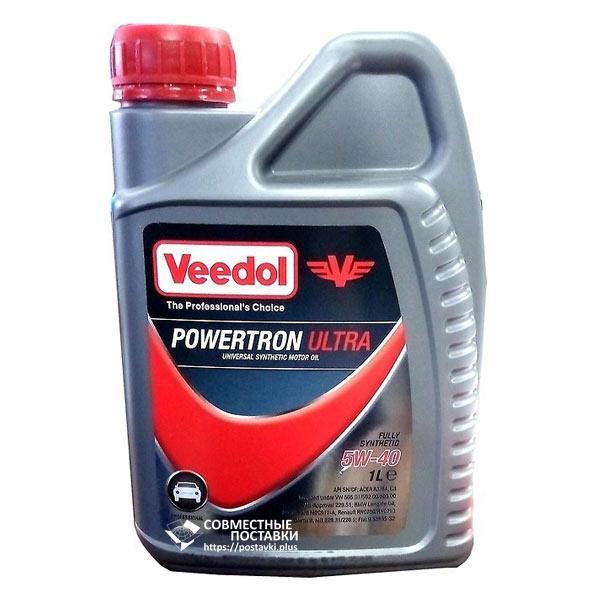 Масло моторное VEEDOL POWERTRON ULTRA 5W-40 1 литр синтетическое
