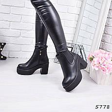 """Ботинки, ботильоны черные """"Velington"""" эко кожа, повседневная, демисезонная, осенняя, женская обувь, фото 3"""