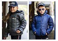 """Стильная двухсторонняя демисезонная курточка """"Fila"""", фото 1"""