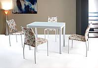 Стол обеденный стеклянный ARGUS белый Halmar