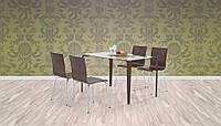 Стол обеденный стеклянный GANDALF венге Halmar