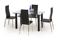 Стол обеденный стеклянный GAVIN черный Halmar