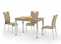 Стол обеденный стеклянный L31 бежевый Halmar