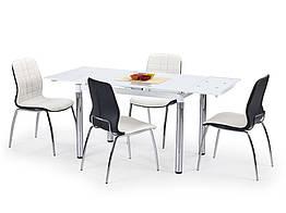 Стол обеденный стеклянный L31 белый Halmar