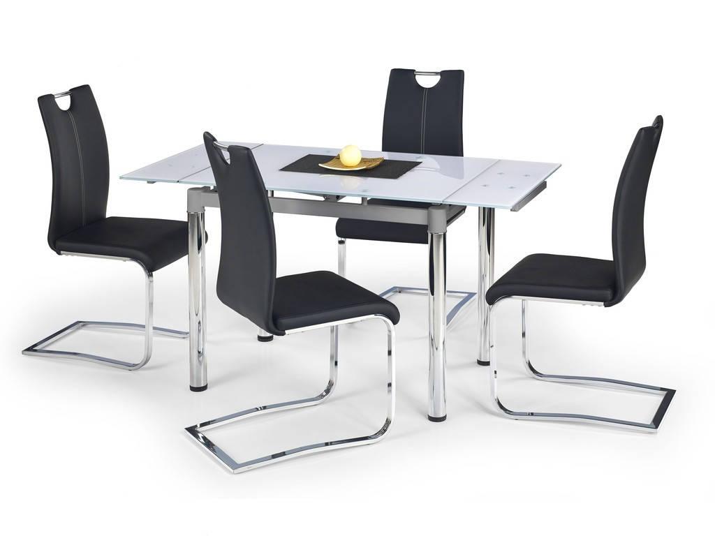 Стол обеденный стеклянный LOGAN 2 белый Halmar