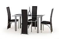 Стол обеденный стеклянный TALON черный Halmar