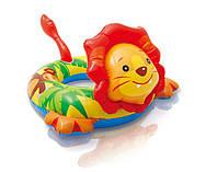 Детский Надувной Пляжный Круг Intex Львенок